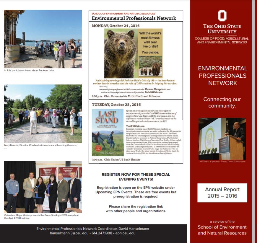 Screenshot of EPN's 2015-2016 Annual Report