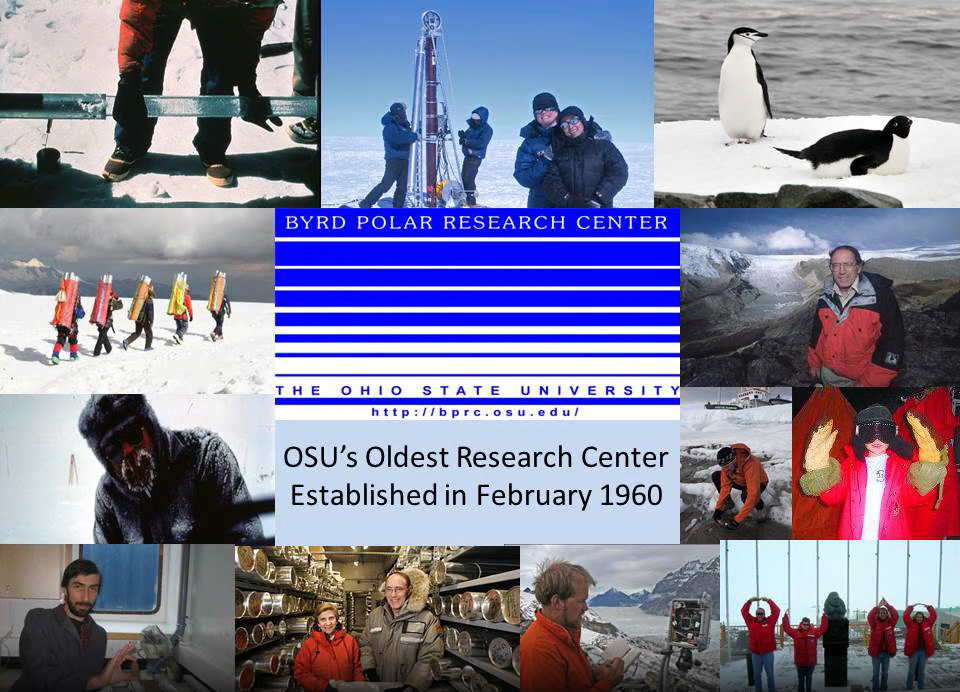 Collection of images of the Antarctica and the Byrd Polar Research Center at Ohio State University