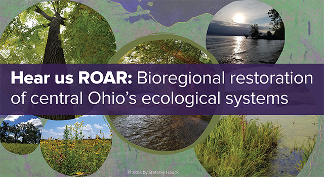 June 4 program banner with images of the ecological systems