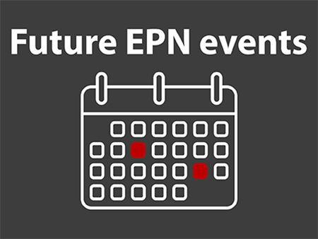 Image of an abstract calendar with gray background for future EPN events