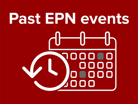 Image of an abstract calendar with scarlet background for past EPN events
